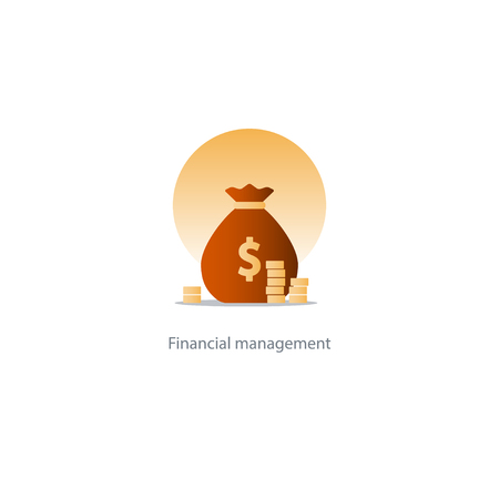 fortune concept: Prize fund money, lottery win icon, budget plan, finances investments, fortune concept  illustration