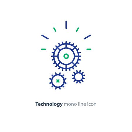 technique technique affaires de soutien de vitesse de l & # 39 ; entreprise icône vecteur mono ligne de mono
