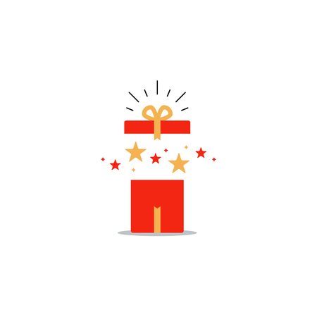 marvel: Surprising gift, opened present box, unusual experience, special celebration.