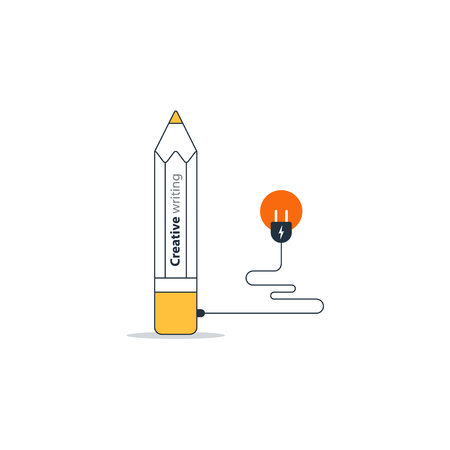 摘要: Writing education concept icon. Creative story tellig. Flat design vector illustration