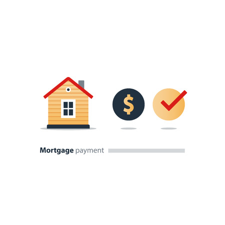 Mortgage payment concept illustration. Illustration