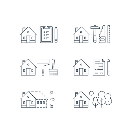 House renovation illustration. Фото со стока - 88632336