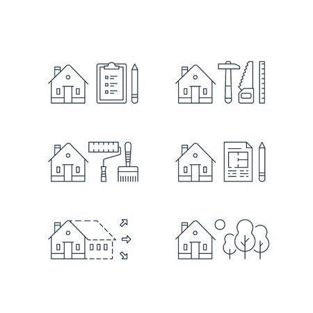 Ilustracja remont domu. Ilustracje wektorowe