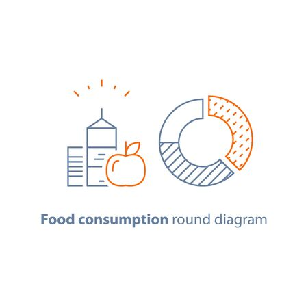 Grocery store infographics vector icon, flat illustration