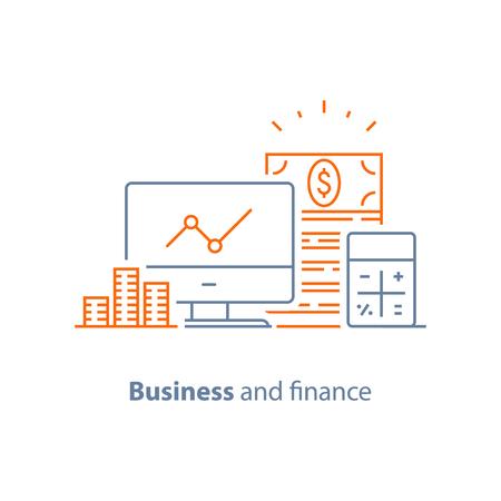 Zakelijke en financiële vector pictogram, vlakke afbeelding Stockfoto - 90772407