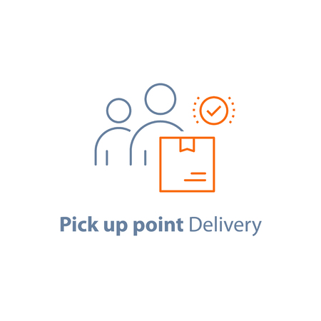 Pick up point vector icon, flat illustration