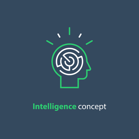 Logic games concept, vector design