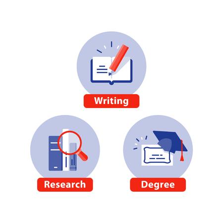 Flache Ikonen der Bildung, Vektorillustration Vektorgrafik