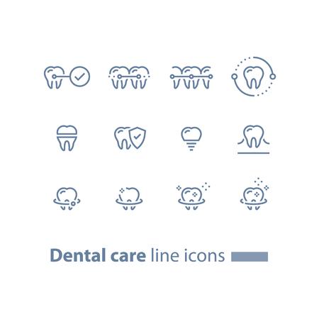 歯科治療、予防チェック、胃科サービス、歯ブレース、クリーニングとホワイトニング、インプラントとクラウン、保護コンセプト、ベクトルライ