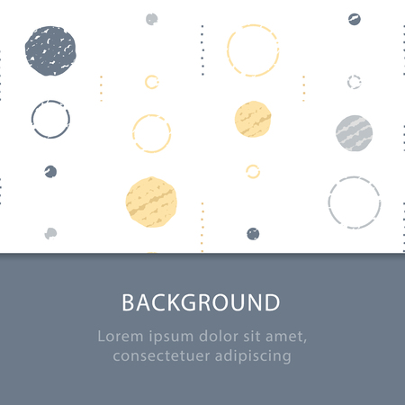 Background with circles, vintage abstract backdrop, subtle grunge texture, minimalist pattern, festive decoration, graphic design, vector illustration