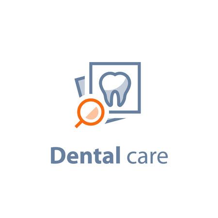 Icona di vettore di cure odontoiatriche. Vettoriali