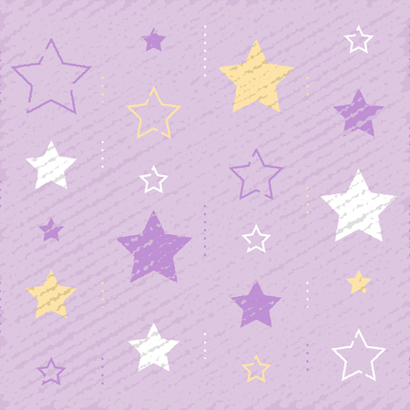 Background vintage stars backdrop with subtle grunge texture minimalist pattern festive decoration graphic design vector illustration