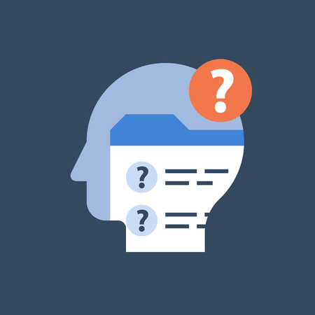 Online exam form, check up knowledge, complete check list, examination questionnaire, assignment concept, test result, personal data, vector icon, flat illustration