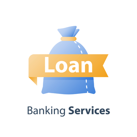 Budget planning, return on investment, cash loan, earn more money, income growth, long term savings account, pension fund payment, financial concept, vector icon Vectores