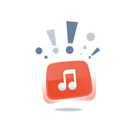 Music application, event announcement, audio recording studio, listen to radio, podcast concept, top song chart, best choice pop music, vector icon, flat illustration