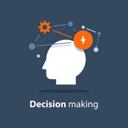 Decision making concept Illustration