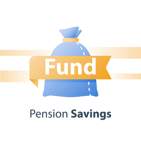Budget planning, return on investment, cash loan, earn more money, income growth, long term savings account, pension fund payment, financial concept, vector icon