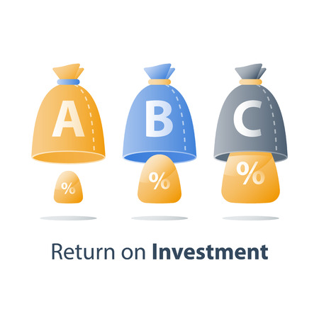Financial invest fund, revenue increase, income growth, budget plan, return on investment, long term strategy, wealth management, more money, high interest, pension savings, superannuation concept Illustration