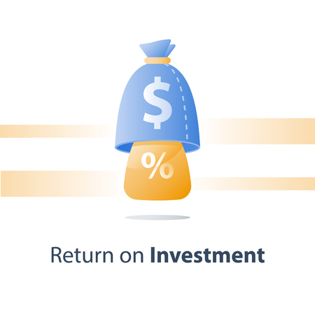 Long term investment strategy, pension fund, secure finance, savings account, multiply capital, mutual fund, financial concept, value increase, vector icon
