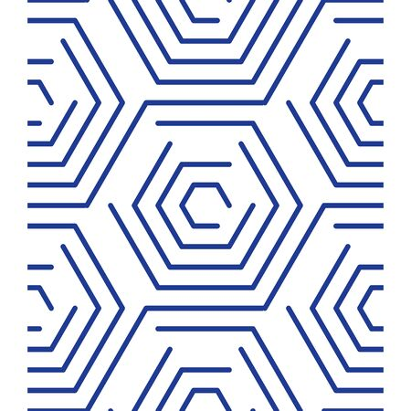 Geometric linear pattern, background with outline hexagons, concept line design Illustration