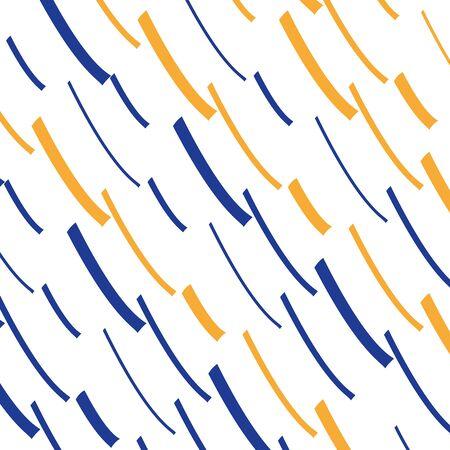 Color pen streaks, rhythmic pattern, loose lines background, creative graphic design Illustration