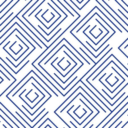 Geometric linear pattern, background with outline squares, concept line design Illustration