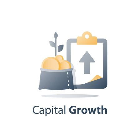 Fast cash loan, quick easy money, invest fund solution, lucrative portfolio, secure finance investment, savings account, banking services, interest rate, vector icon Illustration