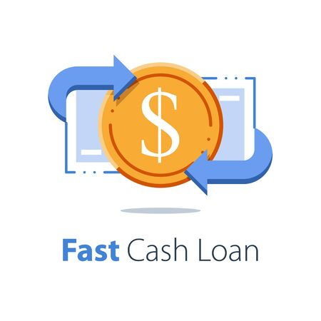 Financial services, cash back concept, money refund, return on investment
