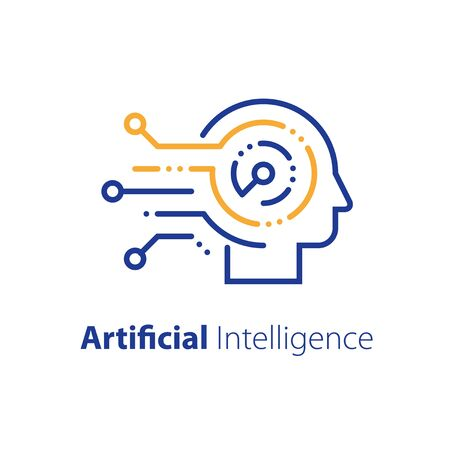 Artificial intelligence concept, machine learning, robot technology and innovation, skill improvement workshop