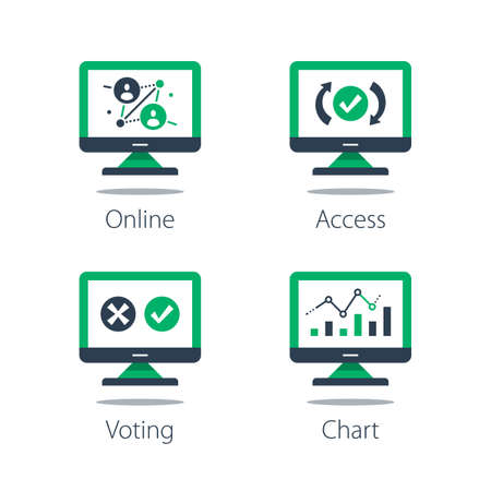 Online voting, personal data collecting and processing, system testing, information analysis