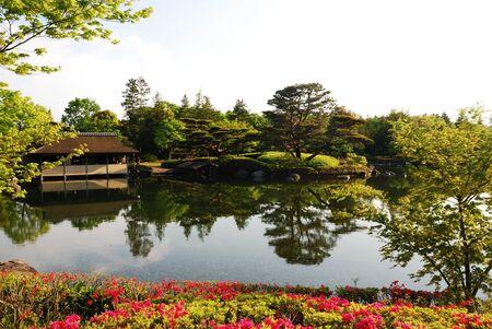 日本庭園 写真素材