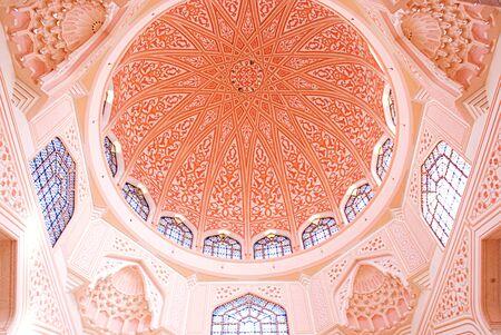 말레이시아의 핑크 모스크 푸트 라 사원