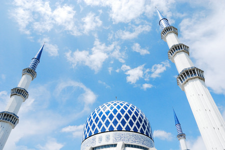 Blue Mosque in Malaysia Editorial
