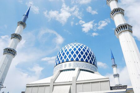 Blue Mosque in Malaysia Imagens