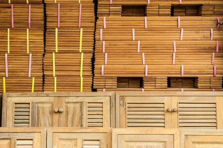 pile of woods and doors prepared for sale Stock Photo - 18227719