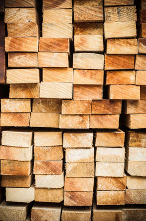 Pile of Wood Stored in stock Stock Photo - 18308904