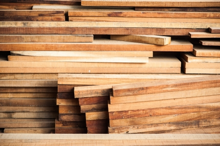 Pile of Wood Stored in stock Stock Photo - 18308852
