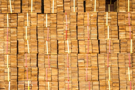 Pattern of Pile of Wood Stored in stock Stock Photo - 18308856