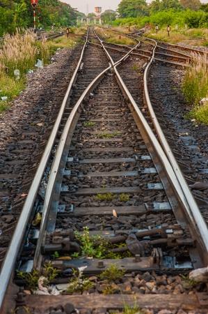 railway track: railroad track