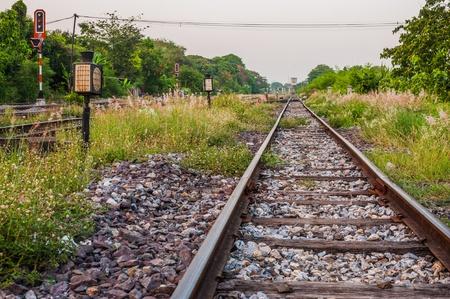 railroad station: railroad track
