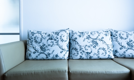 sofa with pillows  Stock Photo