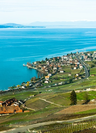 Lake Geneva view in Switzerland