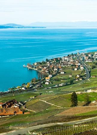 Lake Geneva view in Switzerland