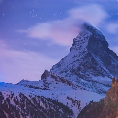 zermatt: Night Scene Matterhorn