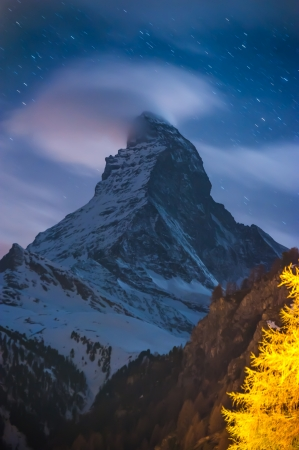 Night Scene Matterhorn photo