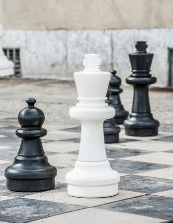 Playing Giant chess photo