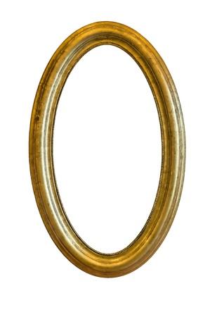 mirror frame: Golden mirror frame