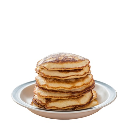 Pancakes on Dish with Honey photo