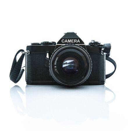 reflex: Black Retro Style Single Lens Reflect Camera