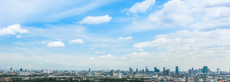 panorama of city and sky
